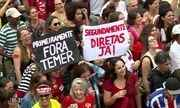 Manifestantes pedem o afastamento de Michel de Temer no RJ