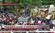 Caos na fronteira entre Guatemala e México: caravana de imigrantes fura bloqueio policial