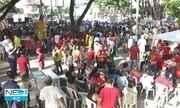 Manifestantes protestam contra a reforma da Previdência no Recife