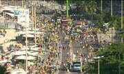 Orla de Copacabana tem manifestação em apoio ao presidente Jair Bolsonaro