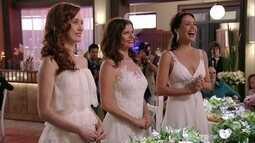 Alexia, Noêmia e Verônica se casam com Cadinho