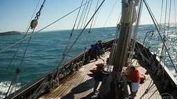 Globo Mar desbrava águas portuguesas a bordo da caravela Vera Cruz (2º bloco)