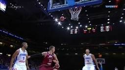 Confira as melhores jogadas do Campeonato Europeu masculino de basquete
