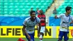O gol de Bahia 1 x 0 Atlético-GO pela 38ª rodada do Brasileirão 2015