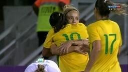 Os gols de Brasil 5 x 1 Nova Zelândia em amistoso de futebol feminino