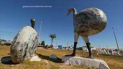 O palhaço que faz arte com material reciclado