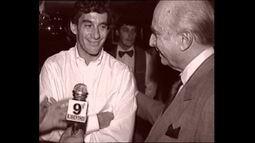 Esporte Espetacular mostra imagens inéditas do encontro de Senna com seu ídolo, Fangio