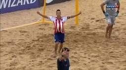 Os gols de Uruguai 4 x 6 Paraguai pelo Sul-Americano de futebol de areia