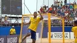 Os gols de Brasil 6 x 1 Argentina pelo Sul-Americano de futebol de areia