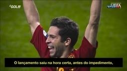 Jordi Alba relembra gol marcado na final da Eurocopa de 2012