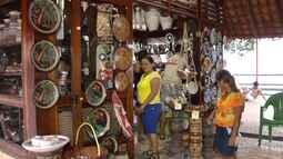 Orla de Icoaraci é ponto e encontro para que artesãos apresentem seus trabalhos