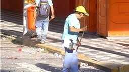Sábado foi de organização para passagem dos blocos de enredos em Nova Fribugo, no RJ