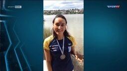 Poliana Okimoto é a segunda na etapa argentina do Circuito mundial de maratona aquática