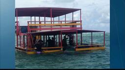 Acidente com catamarã em Camboinha