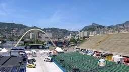 Praça da Apoteose é preparada para apuração do Grupo Especial do Rio