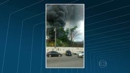 Incêndio destrói parte do prédio da Secretaria Municipal de Transportes de Itaboraí