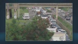 Engavetamento na Rodovia Luiz de Queiroz provoca congestionamento
