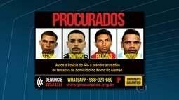 Portal dos Procurados divulga fotos de acusados de tentativa de homicídio no Alemão
