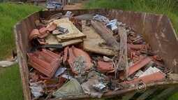 Caçambas de entulho abandonadas preocupam moradores de Sorocaba