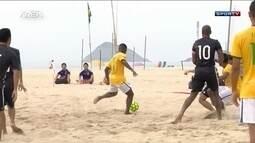 Brasil vence Japão por 6 a 2 em amistoso de futebol de areia no Rio de Janeiro