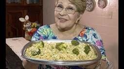 Professora ensina receita de arroz de bacalhau para o almoço da Páscoa