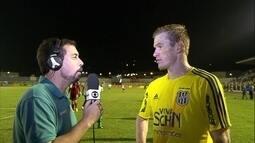 Douglas Grolli fala sobre os gols marcados na vitória da Ponte Preta sobre a Caldense