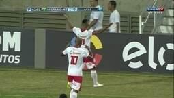 Gol do Operário! Thiago Rômulo bate firme para marcar, aos 42 do 1º tempo