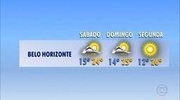 Temperatura pode chegar a 14ºC no fim de semana em Belo Horizonte