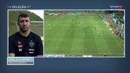 """Pratto sobre posição de centroavante: """"No futebol moderno, tem que ter contato com a bola"""""""