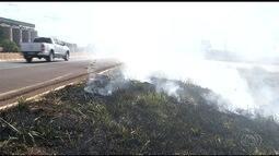 Com o período de estiagem, aumenta a preocupação com as queimadas, em Goiás