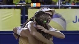 Os pontos finais de Elize/Duda 0 x 2 Larissa/Talita pelo Brasileiro de vôlei de praia