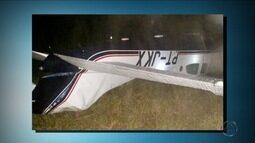 Três são presos por furtar avião da TV Centro América, em Várzea Grande, MT