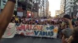 Marcha das Vadias pede fim da violência contra a mulher