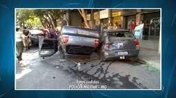 Homem fica ferido em acidente no Centro de Belo Horizonte