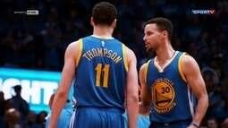 Após show de Klay Thompson, Warriors busca virada sobre Thunder e vaga na final da NBA