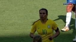 Os melhores momentos de Brasil 2x0 Canadá pelo amistoso internacional de futebol feminino