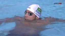 Felipe França vence e João Gomes Jr fica em terceiro nos 50m peito no Mare Nostrum