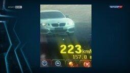Piloto da Stock Car é flagrado a mais de 220 km/h em estrada