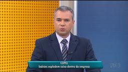 Ladões explodem caixa dentro da Copel, em Curitiba