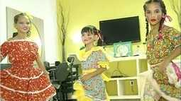 Cabeleireira e maquiadora ensina como arrumar crianças para a festa junina