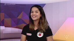 Raphaella Galacho concede entrevista no estúdio do Corpo em Ação