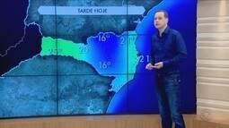 Confira a previsão do tempo para Santa Catarina