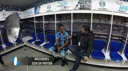Azul, Preto e Branco - Bastidores da entrevista com Jaílson para o guia da partida