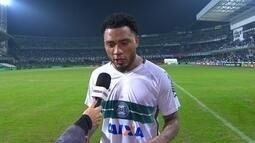 Após estreia com gol, Kazim agradece equipe e apoio da torcida do Coritiba