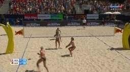 Alemanha vence o primeiro set contra a Holanda pelo Circuito Mundial de Vólei de Praia