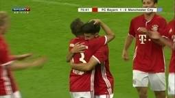 O gol de Bayern de Munique 1 x 0 Manchester City em amistoso internacional