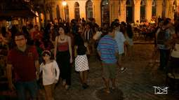 Durante as férias a noite é especial no Centro Histórico de São Luís, MA