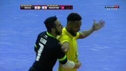 Os gols de Brasil 3 x 1 Argentina em amistoso internacional de futsal