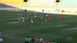 Goianos assistiram de perto o treino da seleção brasileira