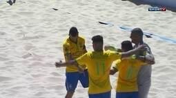 Os gols de Brasil 6 x 4 Portugal na final do Mundialito de Futebol de Areia